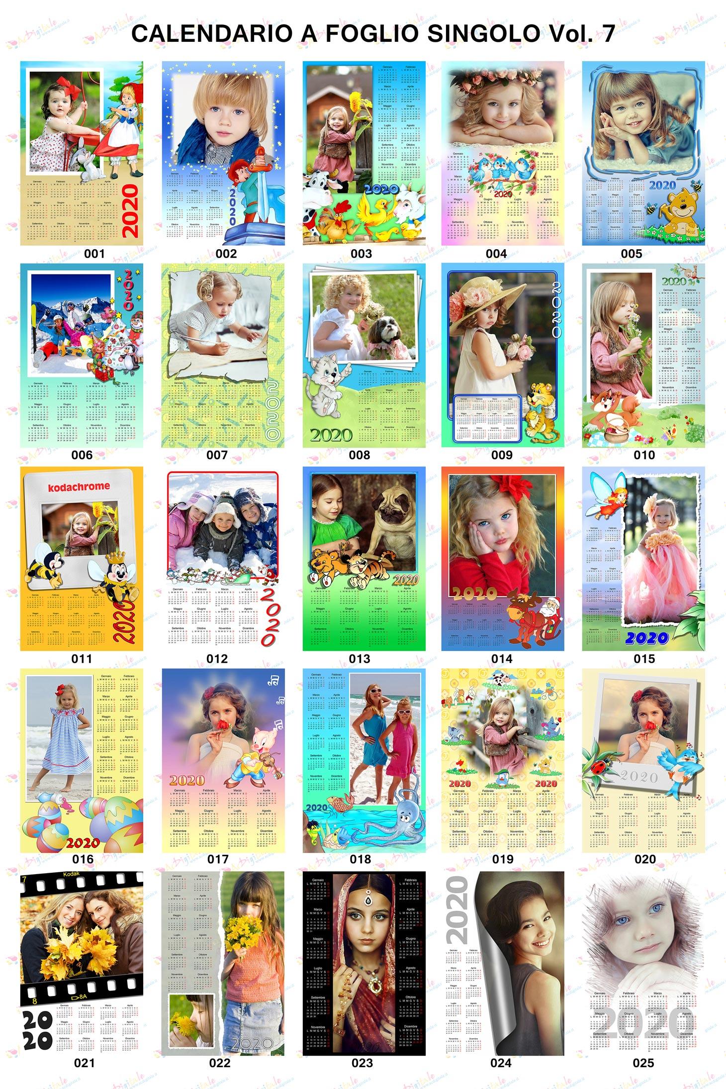 Anteprima Calendari personalizzati 2020 volume 7