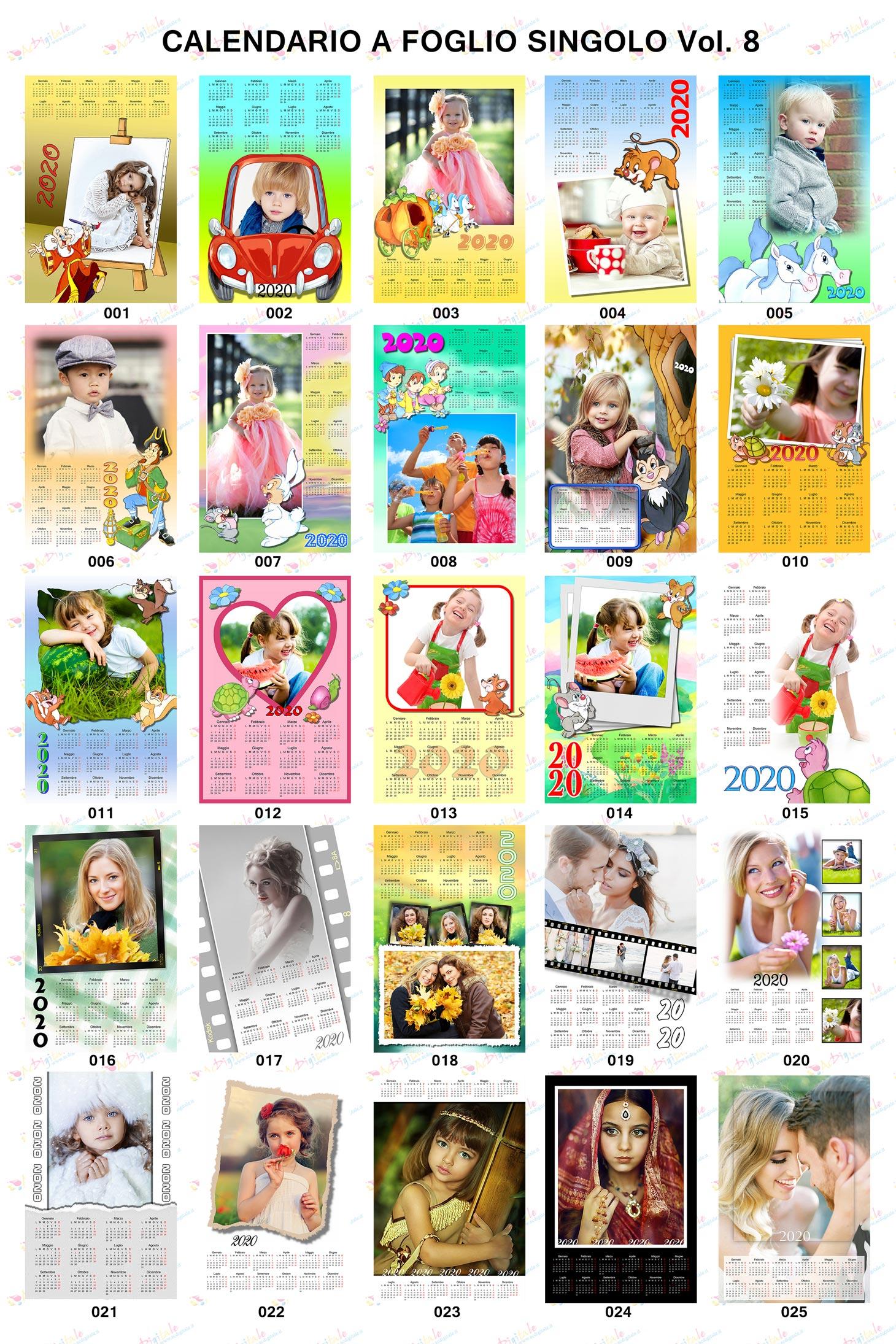 Anteprima calendari personalizzati 2020 volume 8