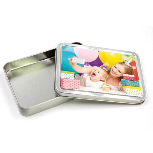 box in latta personalizzato rettangolare dimensioni 17x11