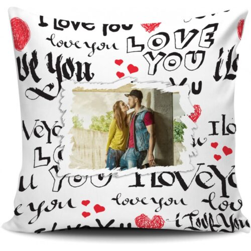 cuscino personalizzato i love you
