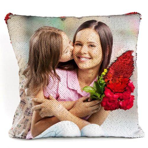 cuscino personalizzato con paillettes