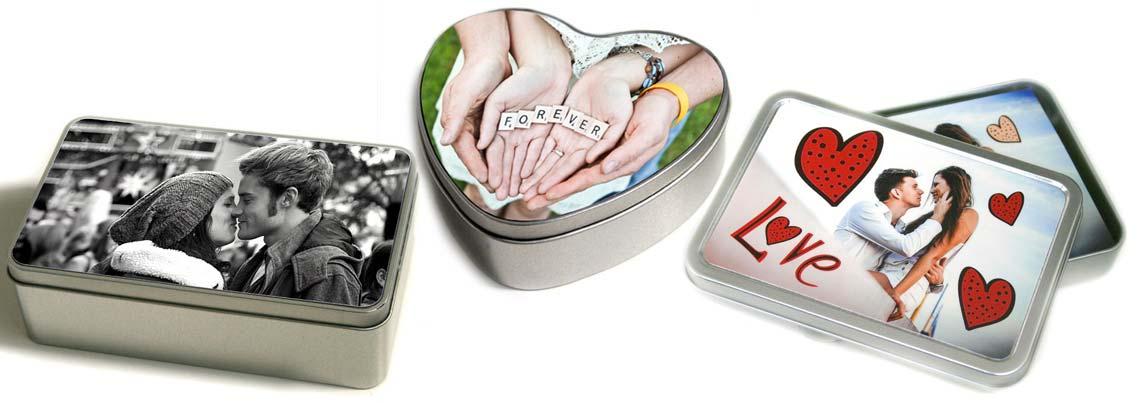 box personalizzati in latta con foto