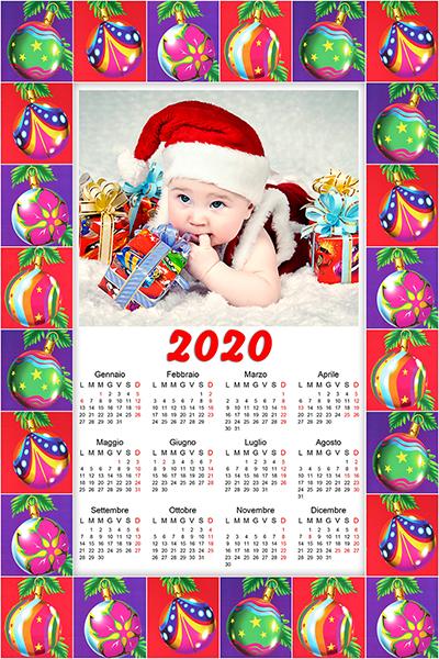 calendario personalizzato a tema natale