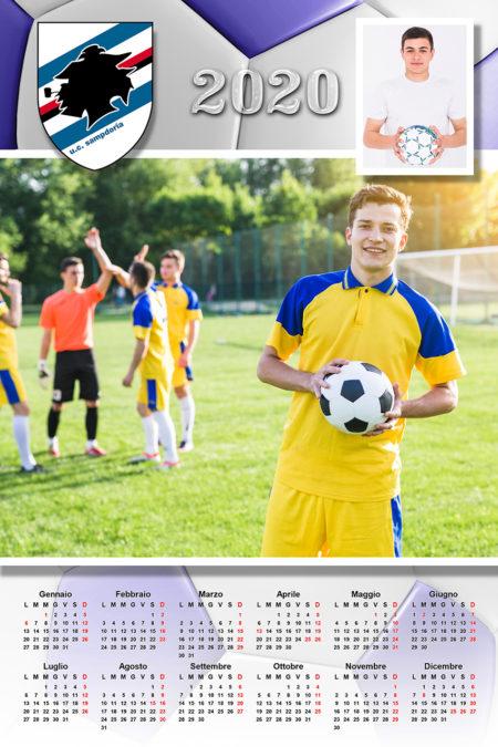 calendario personalizzato sampdoria calcio