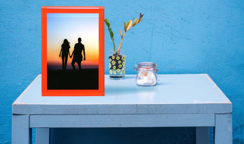 stampa foto da tavolo in plexiglass