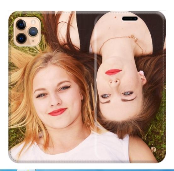 iPhone 11 Max Pro cover a libro personalizzata