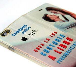 cover e custodie a libro personalizzate per iPhone e galaxy