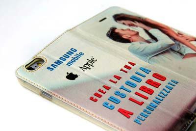 cover e custodie a libro personalizzate per iPhone e galaxy