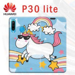 cover custodia a libro personalizzata p30 lite Huawei