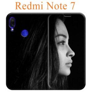 custodia personalizzata redmi note 7 a libro in ecopelle
