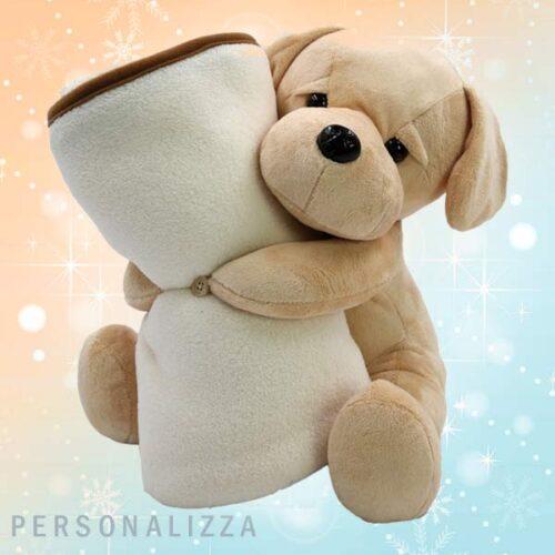 Pelcuche Labrador con plaid personalizzato