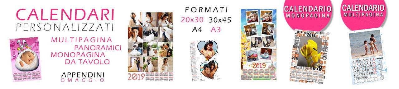 calendari personalizzati con foto - stampa fotocalendari