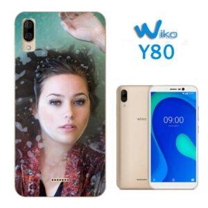 cover morbida personalizzata Wiko Y80