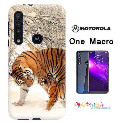 cover morbida personalizzata Motorola One Macro