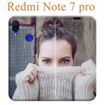 custodia a libro in ecopelle personalizzata per Redmi note 7 pro