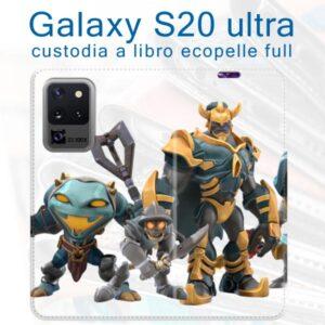 custodia a libro personalizzata galaxy S20 ultra