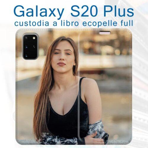 cover a libro personalizzata galaxy S20 Plus