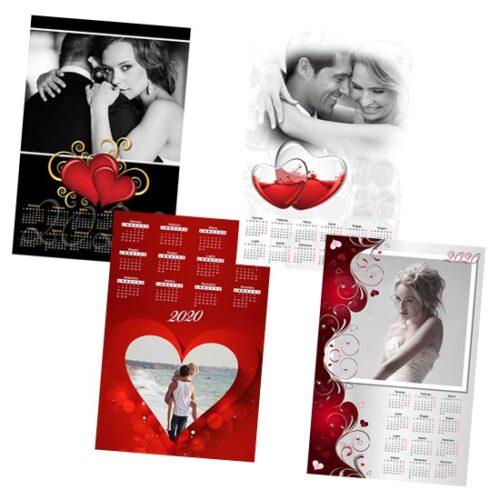 calendario personalizzato san valentino love
