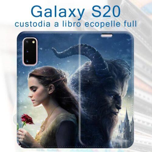 custodia a libro personalizzata in ecopelle galaxy S20