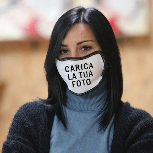 mascherina personalizzata con frasi foto e loghi
