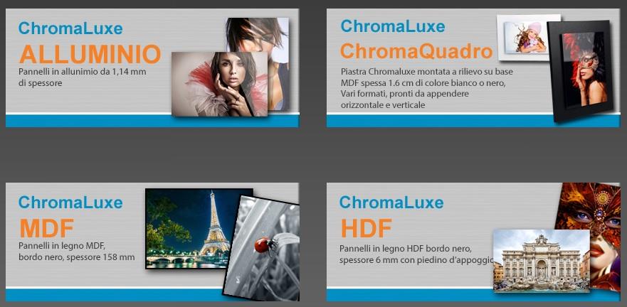 ChromaLuxe varie tipologie