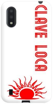 cover personalizzata Galaxy A01 con logo