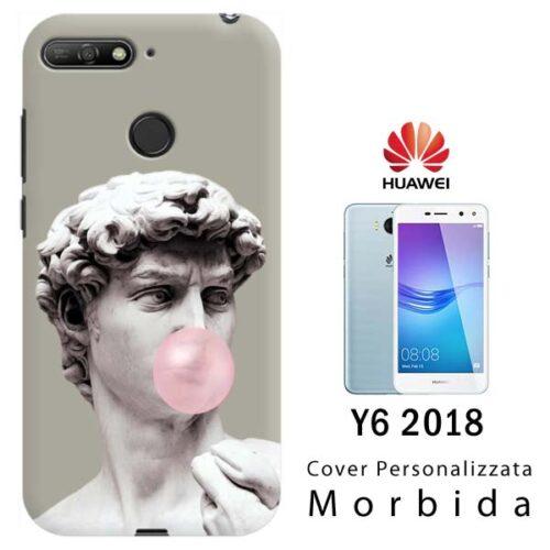 cover personalizzata per Y6 2018 con sensore impronta
