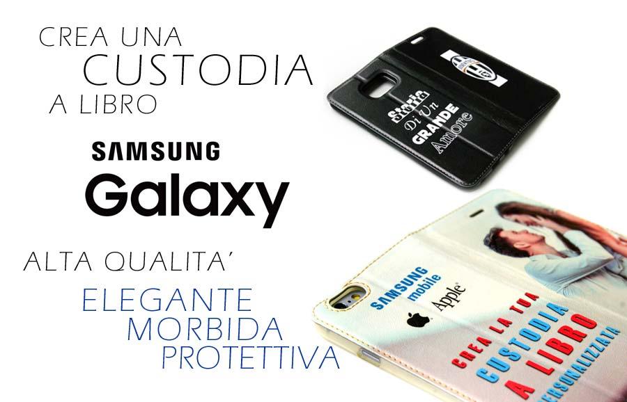 Cover a libro personalizzata samsung galaxy