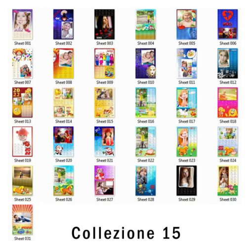 grafiche per calendari personalizzati monopagina 2022