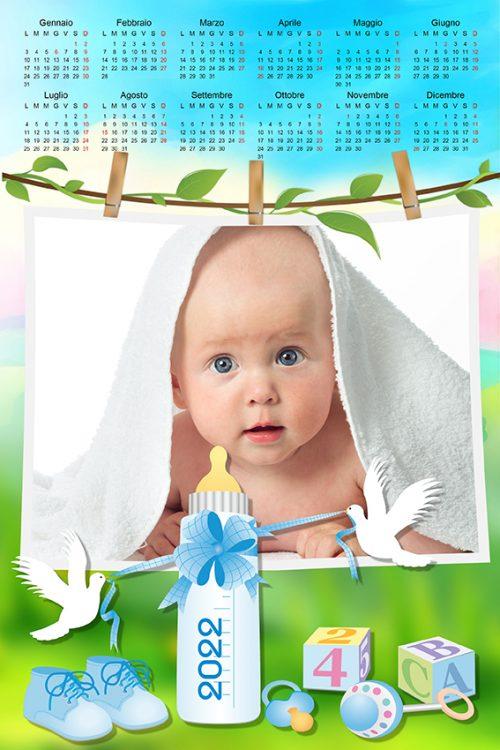 calendario personalizzato per bambino con biberon