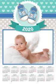 regali di natale - calendario personalizzata nascita maschietto